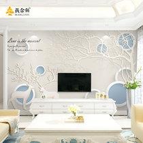 立体无缝壁画3d电视背景墙壁纸客厅卧室墙纸大型影视墙布中式温馨