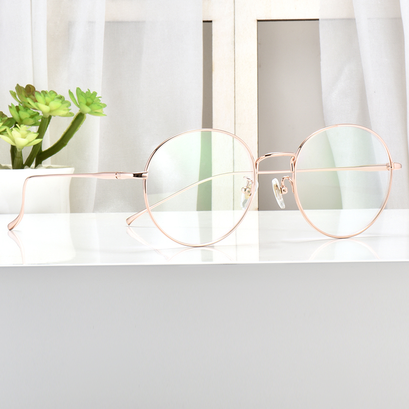 超轻纯钛眼镜框女防蓝光网红款近视眼镜架女可配有度数成品平光男