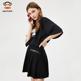 Big mouth monkey short skirt without lining 2019 new trend a word fashion black pleated ins show thin skirt