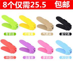 加厚一体式鞋托架收纳鞋架简易双层塑料可调节鞋架宿舍放鞋器