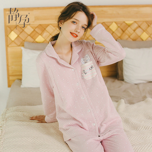 月子服春秋产后孕妇睡衣秋冬季里外层纯棉产妇保暖哺乳喂奶衣套装