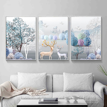 Cross Embroidery 2018 New Line Embroidery Living Room Simple Modern Rich Elk European Triple Painting Embroidery Full Embroidery