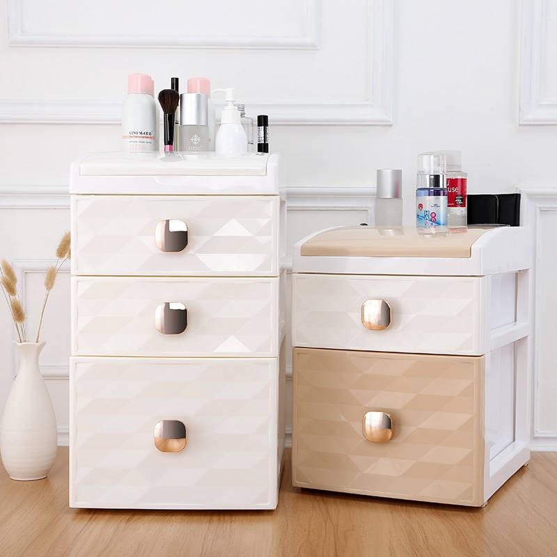 大号化妆品收纳盒欧式梳妆台饰品盒护肤品整理盒置物架桌面收纳盒