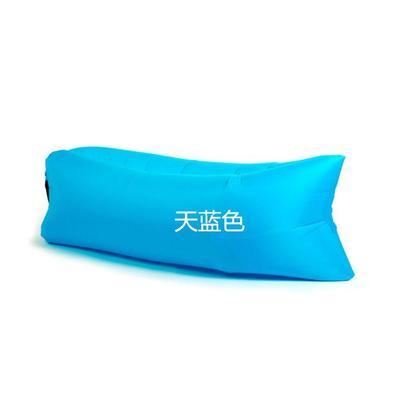 夏季便携空气沙发快速充气沙发床单人户外沙滩睡袋躺椅可折叠包邮2018新款