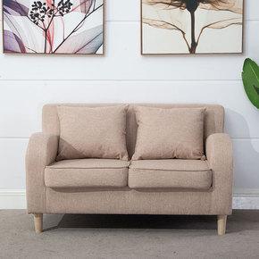 三人位小户型布艺沙发舒适两人田园会客厅简单3人组合欧式二人位