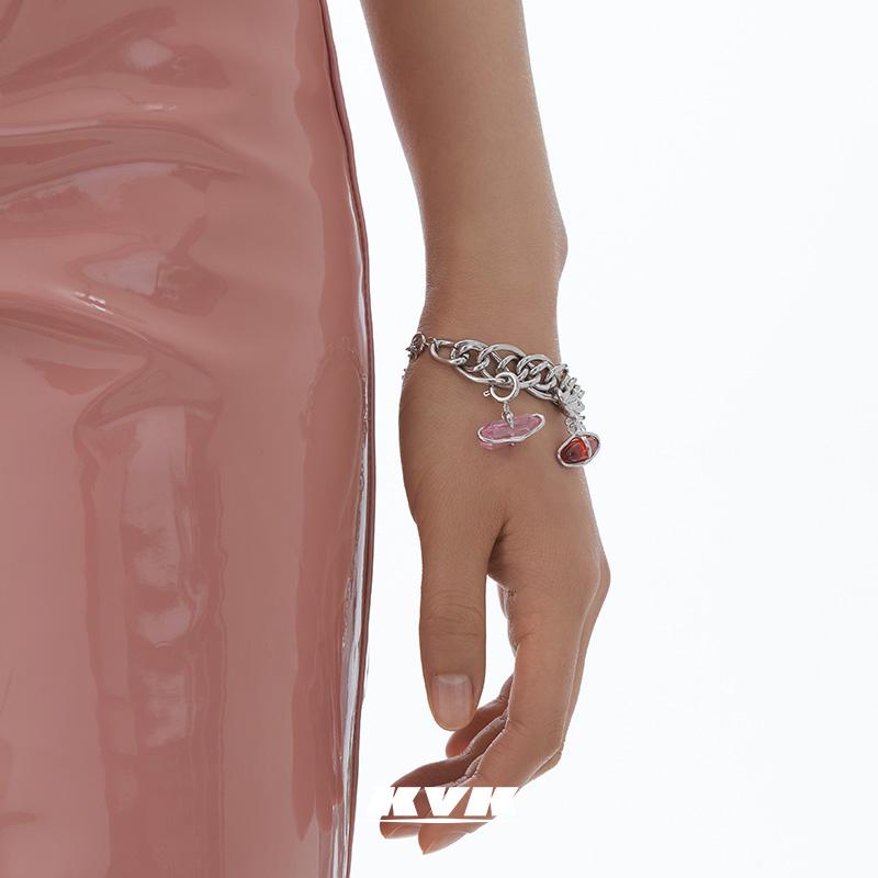 KVK轻奢小众精致桃花手链,送女朋友气质生日礼物