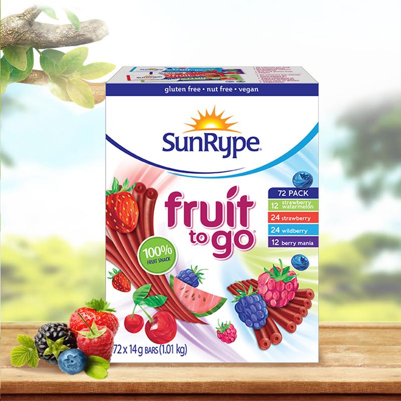 加拿大果丹皮SunRype桑莱普水果条72条儿童宝宝进口婴儿零食天然