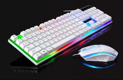 英雄联盟电脑键盘鼠标套装游戏 有线机械手感七彩 家用台式机