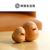 Shude loves you duck wooden rope music box Valentine's Day gift for girlfriend Tanabata boat together Yuji duck music box