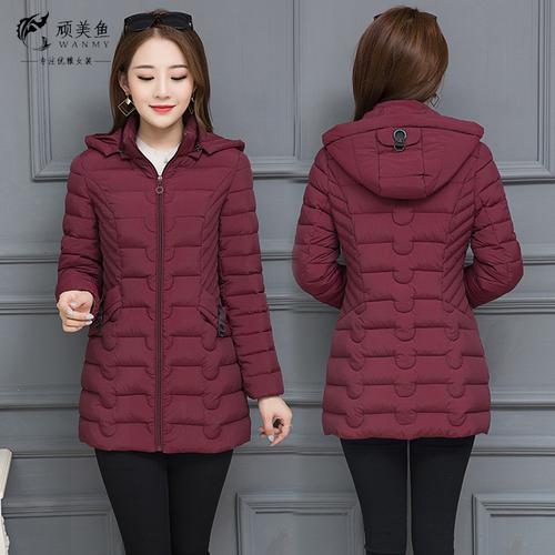 女士棉衣2018新款韩版显瘦中长款女时尚妈妈冬季加厚羽绒棉袄外套