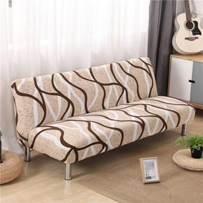 三人位无扶手沙发床套子沙发盖布1.5m1.8m2m米长简易折叠沙发床罩