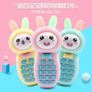 3岁可咬早教仿真宝宝音乐电话益智六个月 婴儿儿童玩具手机女孩0