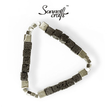 West Press Op.07 Designer Originally Created Volcanic Rock, European and American Retro-Ins Style Couple Personality Bracelet for Male and Female Students
