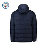 Manchester City 2018 autumn and winter models core hooded cotton jacket men's casual cotton jacket shirt