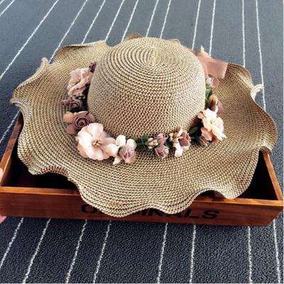 户外出游草帽女夏天防晒遮阳帽子女童凉帽宝宝亲子母女款太阳帽