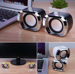 手机迷你小音箱低音炮外接通用台式电脑音响USB供电家用喇叭外放