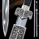 quality goods town curtilage the pattern steel sword sword eight sides which manganese steel manual han dynasty jian qin jian is not edged usually