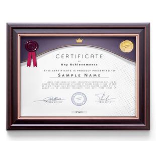 复古A4证书框摆台挂墙营业执照相框许可证授权书商标注册