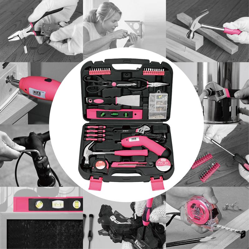 希孟家用电钻电动手工具套装五金电工专用维修螺丝刀多功能工具箱