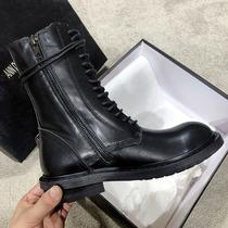 加绒保暖黑色细跟后拉链时装靴2018欧洲站尖头高跟靴子短靴女冬季