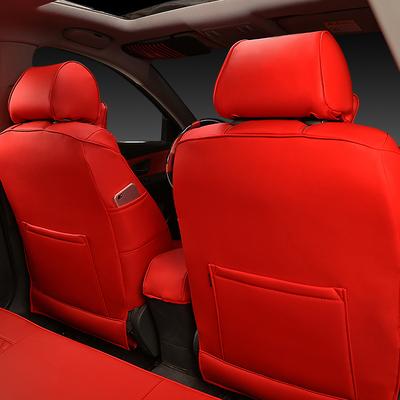 汽车座套四季通用红色新老款全包围PU皮坐垫春夏季座椅套专用座套