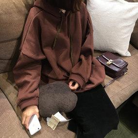 超火卫衣女韩版潮学生2018新款宽松ulzzang加绒加厚连帽长袖外套