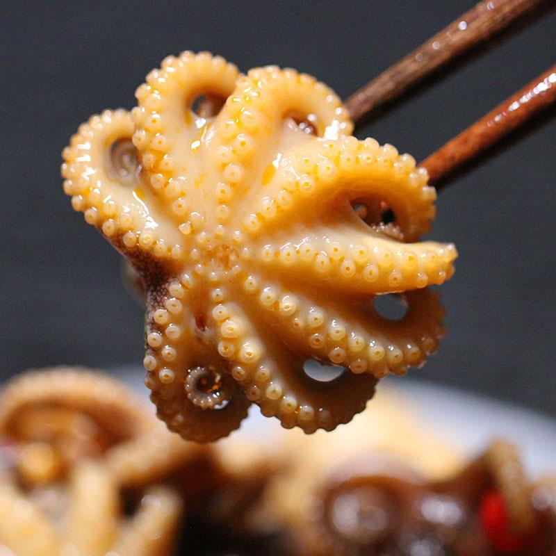 那片海麻辣迷你八爪鱼捞汁小海鲜罐装即食熟食网红香辣爆头章鱼