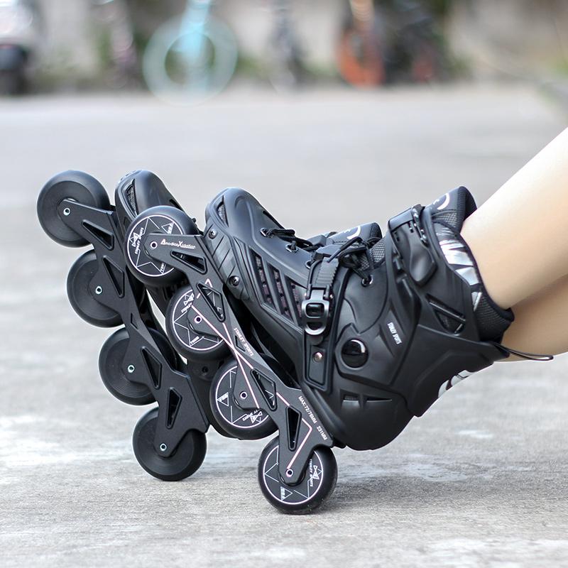 斯坦利轮滑鞋男女溜冰鞋成年成人直排轮速滑轮鞋滑冰鞋旱冰鞋专业