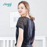 Ms. Sloggi's Sleepwear, Lace Short-sleeved Round-collar Home Apparel HW0025803