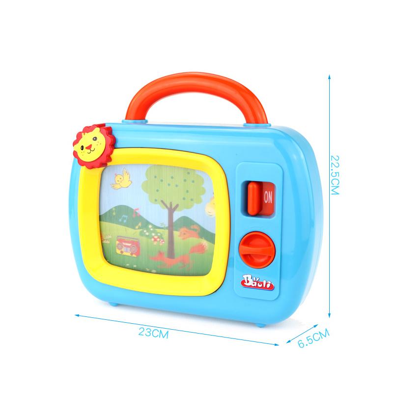 宝丽儿童音乐电视机仿真玩具女孩男孩1-3岁宝宝过家家玩具益智