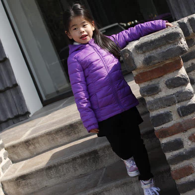 紫色儿童棉衣