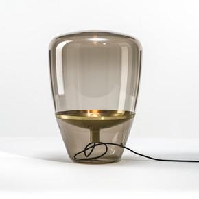 后现代简约创意餐桌玻璃台灯北欧复古设计师客厅卧室书房床头台灯