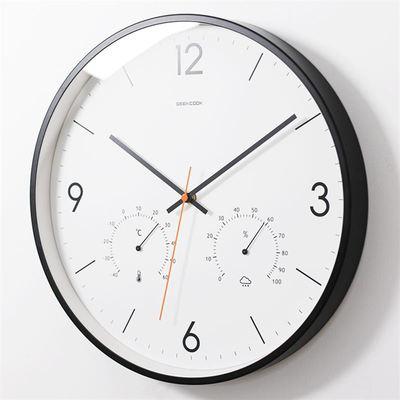 温湿度钟表挂钟客厅实体店