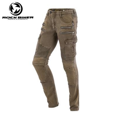 ROCK BIKER摩托车骑行裤男机车裤防摔四季赛车哈雷帅气修身牛仔裤