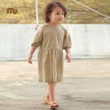 Nucollection Children's Clothes New Seven-Sleeve Shoulder Dressed Girl Baby in Spring and Summer of 2019