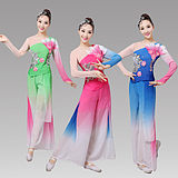 Classical dance costumes women's new elegant fan dance national dance costumes Yangko clothing square dance set adult
