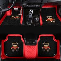 新款汽车皮革全包围卡通款式脚垫沃尔沃S90/红旗H5专车专用订制