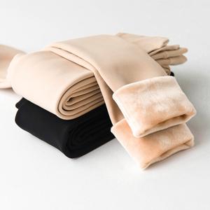 光腿肉色打底裤加绒加厚女丝袜秋冬季外穿肤色神器保暖隐形连裤袜
