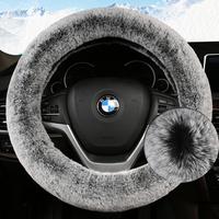 欧诺欧力威CX70欧尚A600通用型汽车方向盘套子冬季长毛绒把套