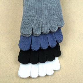 带脚趾头的袜子五指袜女男长袜可爱韩版中筒袜足趾秋冬黑白色秋季