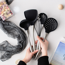Shangyijia non-stick pan special silica gel pan shovel fried vegetable shovel household heat-resistant long spoon kitchen set