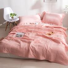 全棉水洗棉夏被三件套1.8m标准款,简约风夏被床上用品可机洗