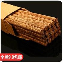 高档鸡翅木筷子 健康无漆无蜡餐具 环保原木筷10双 180g