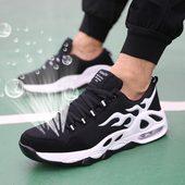 百搭潮鞋 韩版 学生青少年网鞋 潮流透气垫跑步运动休闲男鞋 夏季男士