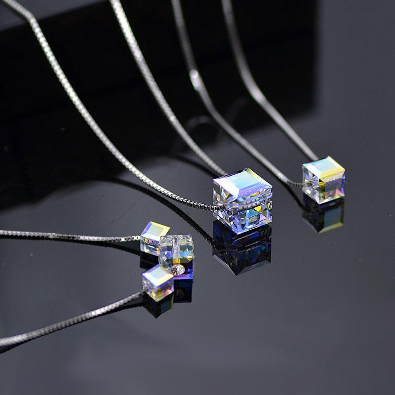 方水晶项链