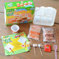 Japanese food to eat can be eaten Kanebo DIY children's handmade mini food to play kitchen homemade hamburger package