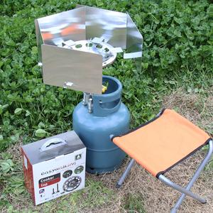 简行户外便携式液化气防风炉头户外煤气灶头野营气炉自驾房车装备