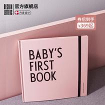 丹麦designletters婴儿成长纪念册出生定制儿童diy相册幼儿园纪录