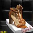 2017 fashion high heels shoes metal fish mouth a word