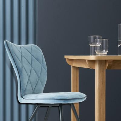 椅子创意餐椅时尚现代简约靠背椅家用餐厅桌椅布艺休闲椅咖啡椅